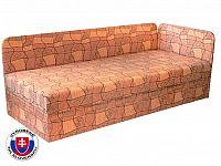 Jednolůžková postel (válenda) 80 cm Edo 4/1 (s pružinovou matrací) (P)