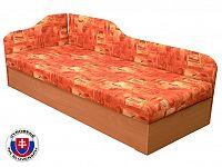 Jednolůžková postel (válenda) 80 cm Edo 4/2 (s pružinovou matrací) (L)
