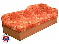 Jednolůžková postel (válenda) 80 cm Edo 4/2 (s pružinovou matrací) (P)