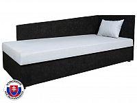 Jednolůžková postel (válenda) 80 cm Edo 4 Lux (s molitanovou matrací) (P)