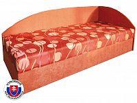 Jednolůžková postel (válenda) 80 cm Marta (s pružinovou matrací) (P)
