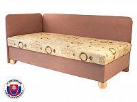Jednolůžková postel (válenda) 80 cm Siba (s molitanovou matrací) (L)