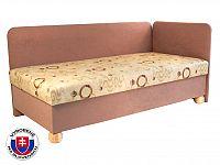Jednolůžková postel (válenda) 80 cm Siba (s pružinovou matrací) (P)