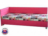 Jednolůžková postel (válenda) 90 cm Etile 2 (s molitanovou matrací) (L)
