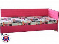 Jednolůžková postel (válenda) 90 cm Etile 2 (s molitanovou matrací) (P)