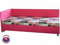 Jednolůžková postel (válenda) 90 cm Etile 2 (se 7-zónovou matrací standard) (L)