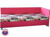 Jednolůžková postel (válenda) 90 cm Etile 2 (se 7-zónovou matrací standard) (P)