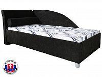 Jednolůžková postel (válenda) 90 cm Perla Plus (s molitanovou matrací) (L)