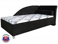 Jednolůžková postel (válenda) 90 cm Perla Plus (s molitanovou matrací) (P)