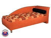 Jednolůžková postel (válenda) 90 cm Perla (s molitanovou matrací) (P)