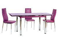 Jídelní stůl GD-018 (fialová) (pro 4 až 6 osob)