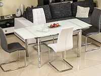 Jídelní stůl GD-020 (bíla) (pro 6 osob až 8 osob)