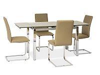 Jídelní stůl GD-020 (tmavě béžová) (pro 6 osob až 8 osob)