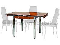 Jídelní stůl GD-082 oranžový (pro 4 osoby)