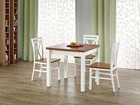 Jídelní stůl Gracjan (olše + bílá) (pro 4 až 6 osob)