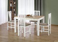 Jídelní stůl Ksawery (dub sonoma + bílá) (pro 4 osoby)