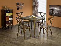 Jídelní stůl Magnum (čtvercový) (žlutá) (pro 4 osoby)