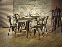 Jídelní stůl Magnum (obdélníkový) (žlutá) (pro 4 osoby)