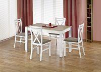Jídelní stůl Maurycy (dub sonoma + bílá) (pro 4 až 6 osob)