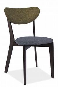 Jídelní židle Andre (šedá + zelená)