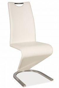 Jídelní židle H-090 (ekokůže bílá)