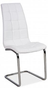Jídelní židle H-103 (ekokůže bílá)