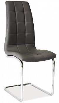 Jídelní židle H-103 (ekokůže šedá)