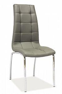 Jídelní židle H-104 (ekokůže šedá)