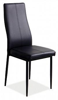 Jídelní židle H-145 (ekokůže černá)