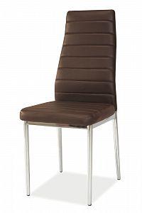 Jídelní židle H-261 (ekokůže hnedá)