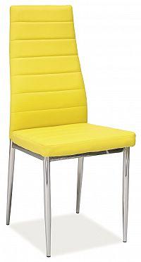 Jídelní židle H-261 (ekokůže žlutá)
