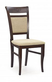 Jídelní židle Jakub Ořech tmavý + béžová