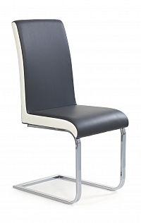 Jídelní židle K103 šedá + bílá