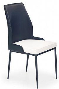 Jídelní židle K199 černo-bílá