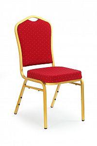 Jídelní židle K66 zlatá + bordó