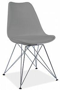 Jídelní židle Tim (šedá + chróm)