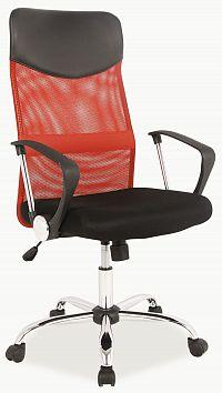 Kancelářska židle Q-025 červené + černá