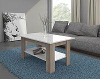Konferenční stolek Elaiza (sonoma světlá + lesk bílý)