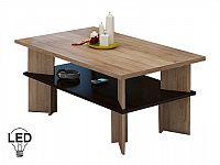 Konferenční stolek Vectra 2 (sonoma světlá + tmavá)