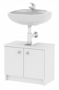 Koupelnová skříňka pod umyvadlo Galena Si02 2D bílá