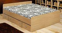 Manželská postel 140 cm Duet buk