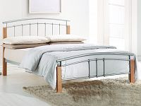 Manželská postel 140 cm Mirela (s roštem)