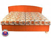 Manželská postel 160 cm Milano (s pružinovou matrací)