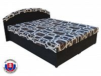 Manželská postel 160 cm Pandora (černá) (s rošty a matracemi)