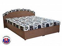 Manželská postel 160 cm Pandora (hnědá) (s rošty a matracemi)