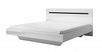 Manželská postel 160 cm Typ 31 (bílá + bílý vysoký lesk)