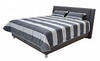 Manželská postel 180 cm Blanář Taranto (šedá) (s roštem a matrací IVANA PLUS)