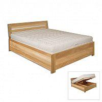 Manželská postel 180 cm LK 295 (dub) (masiv)
