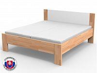 Manželská postel 220x140 cm Nikoleta čalouněný čelo (masiv)