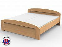 Manželská postel 220x180 cm Petra oblé čelo u nohou (masiv)